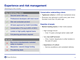 Experience and risk management